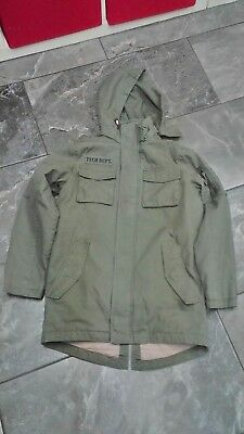 Nwt H & M Girls Twill Quilted Lined Jacket Army Green 9-10 Y