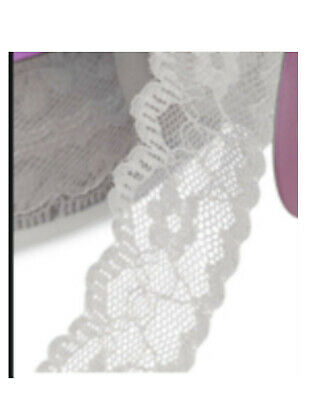 """LACE SEWING TRIM PINK SCALLOPED RUFFLE SOLD BTY 6 YDS AVAILABLE 1.25/"""" WIDE"""