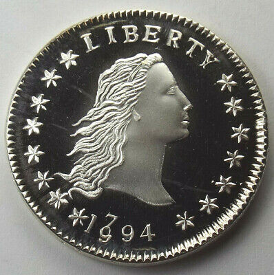 Gallery Mint 1794/1994 Flowing Hair Silver Dollar Fantasy Coin, Ron Landis #1483
