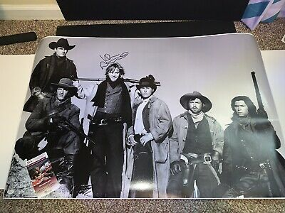 """Kiefer Sutherland Signed Autographed 24""""x36"""" Young Guns Poster w/Witnessed JSA"""
