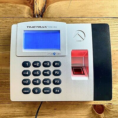 Pyramid TimeTrax Elite Bio Automated Biometric Fingerprint Time Clock