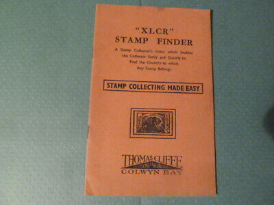 XLCR Stamp Finder  Rare Booklet  Very Good Condition