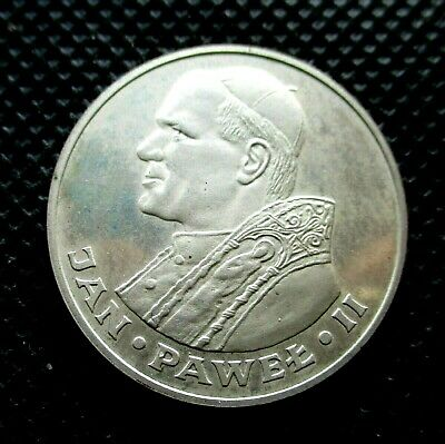 SILVER COMMEMORATIVE 1000 ZLOTY 1982 COIN OF POLAND - POPE JOHN PAUL II Ag (1)