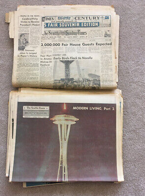Seattle Times Worlds Fair Newspaper  April 8 1962 Complete