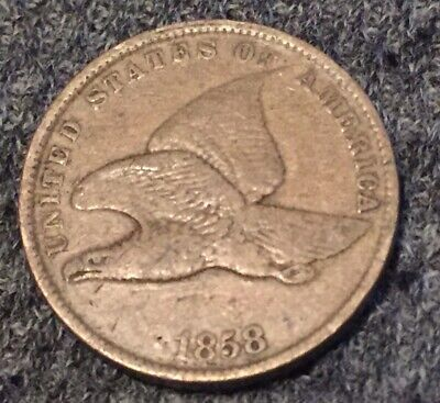 1858 Flying Eagle Cent.. Small Letters..$2ship  NR