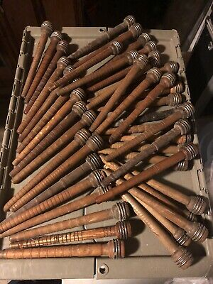 Vintage Wood spool bobbins spindles thread/yarn primitive.  Sold Separately.