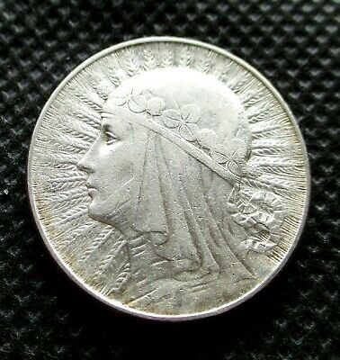 OLD SILVER COIN OF POLAND 5 ZLOTY 1934 JADWIGA SECOND REPUBLIC Ag (1)