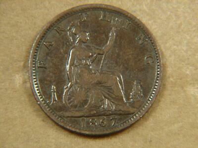 1867 Great Britain Farthing Coin