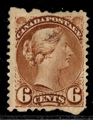 #39 Small Queen 6c Canada mint well centered