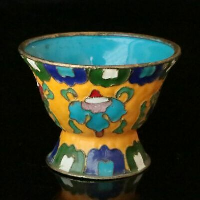 Chinese  Exquisite Cloisonne Handmade  Flower  Bowl