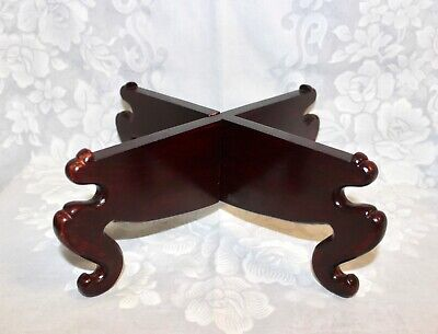 ANTQ Chinese Hardwood Rosewood Carved Large Criss Cross Display Stand Base