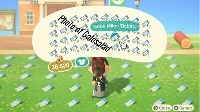 800x Nook Miles Tickets (Animal Crossing) Same Day Delivery!