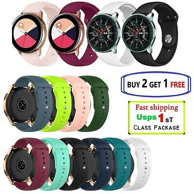 Samsung Galaxy Watch Active 2 40/42/44mm Silicone Sport Band  or  Tpu cover case