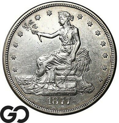 1877-S Trade Dollar, Always In High Demand AU Silver $ Series!