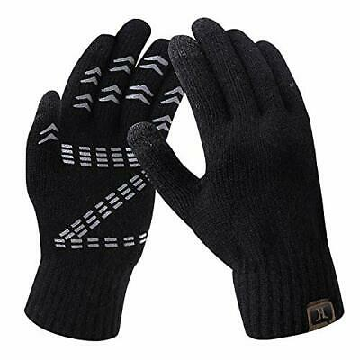 NEW Men's Winter Gloves Warm Thermal Soft Wool Knit Touch Screen Gloves for Men
