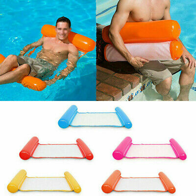 Inflatable Floating Water Hammock Float Pool Lounge Bed Swimming Chair ABUK