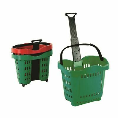 Giant Shopping Basket Trolley Green - SBY20755