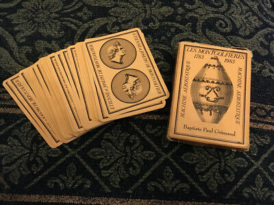 Grimaud Les Montgolfieres Vintage playing cards 1983 Full Set