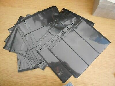 14 used Lighthouse Vario Stocksheets 3 pockets 21.8x28.3 2-sided Ref XE10