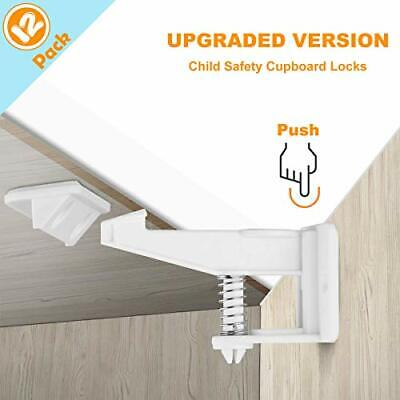 Child Safety Locks, 12 Pack Child Safety Cupboard Locks, Invisible and Unlocked