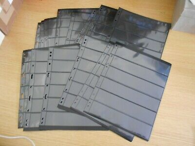 14 used Lighthouse Vario Stocksheets 6 pockets 21.8x28.3 2-sided Ref XF7