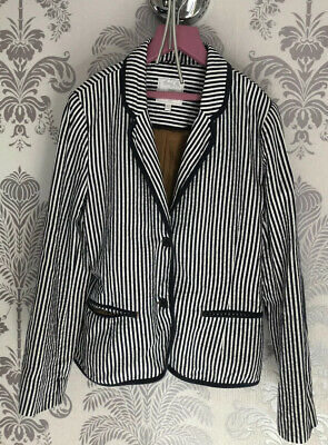 BNNT Mayoral Chic, Navy/white Stripe Blazer, Girls, 12y. NONE ISOLATED HOME.