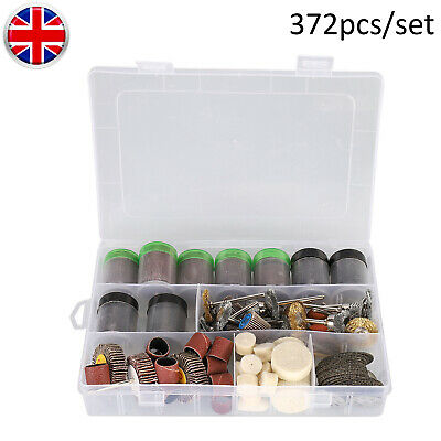 372 Piece Electric Mini Rotary Power Drill Tool Accessory Kit Fits Multi Tools