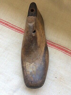 Vintage Wooden Shoe Last, Stamped 2181 WW1 B5 Boot Size 10