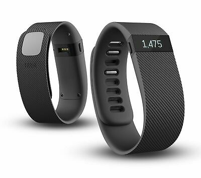 New Fitbit Charge Wireless Activity Tracker + Sleep Wristband Black Large Rubber
