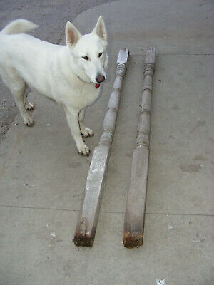 """Pair 79""""Vintage  Wood Wooden Load Bearing Structural Porch Columns  Posts"""