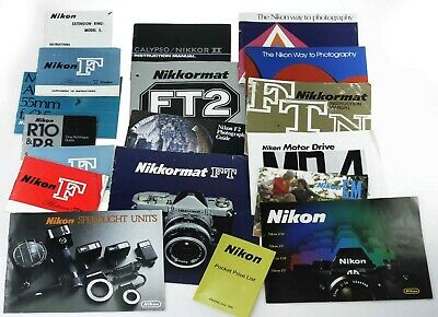 Nikon Instruction Books And Other Related Literature From The Film Era.