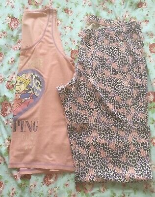 George size 20 22 cotton vest & long pyjamas Set Miss Piggy & Kermit