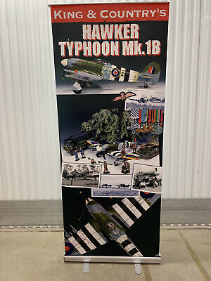 King & Country Toy Soldiers RAF Typhoon Stand Up Poster Collectors Advertisment