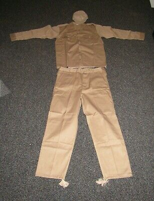 OIF Iraqi NOS tan tunic, pants, and hat set in original plastic