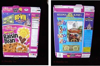Kellogg's Kelloggs Raisin Bran Cereal Box Disney World 2003