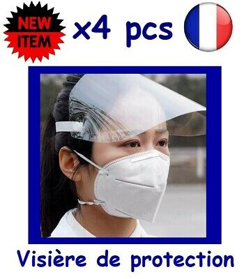 Lot de 4 - Visiére de protection masque anti projection - Stock en France