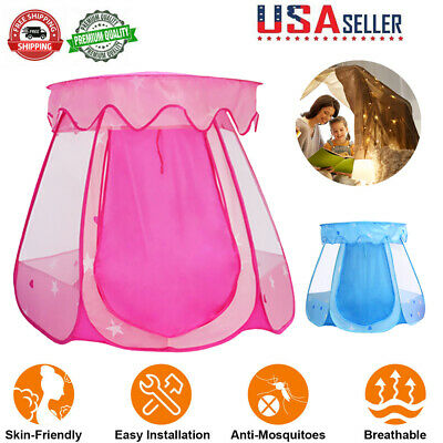 Princess Castle Play House Large Indoor/Outdoor Kids Play Tent for Girls Pink US