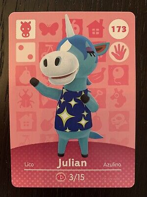 NEW/NEVER SCANNED + AUTHENTIC Animal Crossing New Horizons Amiibo Card JULIAN