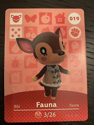 NEW/NEVER SCANNED + AUTHENTIC Animal Crossing New Horizons Amiibo Card FAUNA