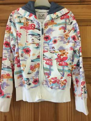 NEXT STUNNNG  COTTON GIRLS Hoodie Zipped JACKET Age 11 Lovely Hawaiin Print