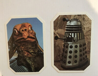 Doctor Who Typhoo Tea Cards No. 6 & 7 Vintage. Excellent Condition. Ty-phoo
