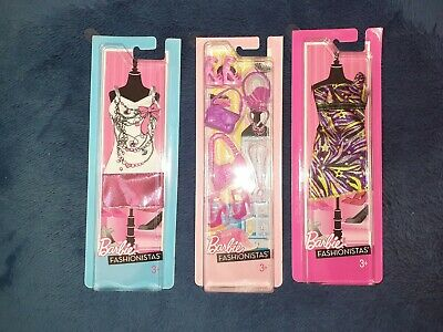 Barbie Fashionista Packs Dresses Shoes Bag NEW Outfit Accessories Jewelry
