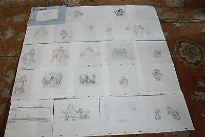 Rare The Simpsons Tv Show Original Storyboards Set Used Sketches Drawing 526
