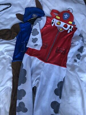Paw Patrol Dress Up Bundle. Marshall And Chase 5-7 Years