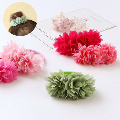 Hair Kids Girls Clips Bands Accessories Elastic Multi-layer Flower