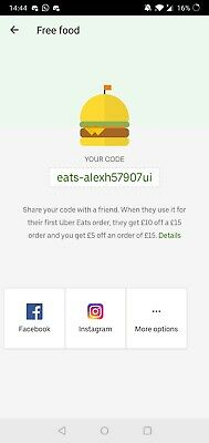 Uber Eats £10 Food Offer First Time User!Spend £15 Get £10 Off!Code 2020!UK!FREE