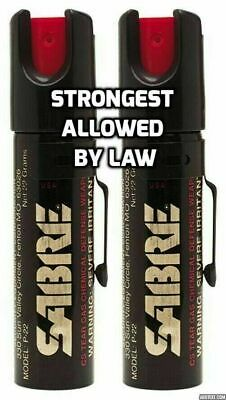 2 Sabre Professional Pepper Spray Self Defense Police Red Pocket Unit Protection