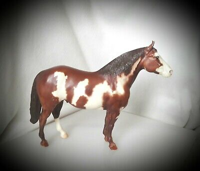 Vintage ▪ BREYER ▪BROWN w/ WHITE Cloud Patches Standing Horse Figure U.S.A.
