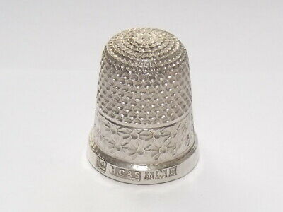 Vintage Solid Silver Sterling Thimble 15, Henry Griffith & Son, Birmingham 1952