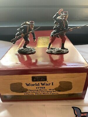 W Britian: 17703 - WWI French Infantry Charging Set No.2 (Mint Condition)